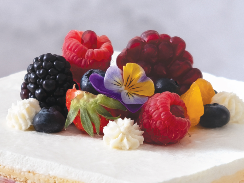 Assorted Fruits Layer Cake